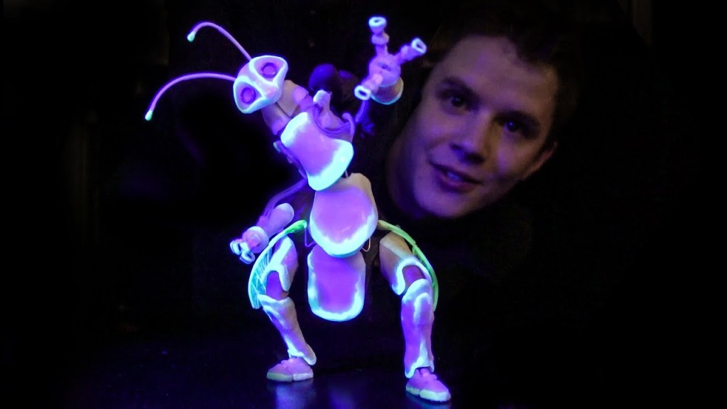An Incredible Glow-in-the-Dark, Dancing Bug Finger Puppet That Can Pick Things Up and Throw Them