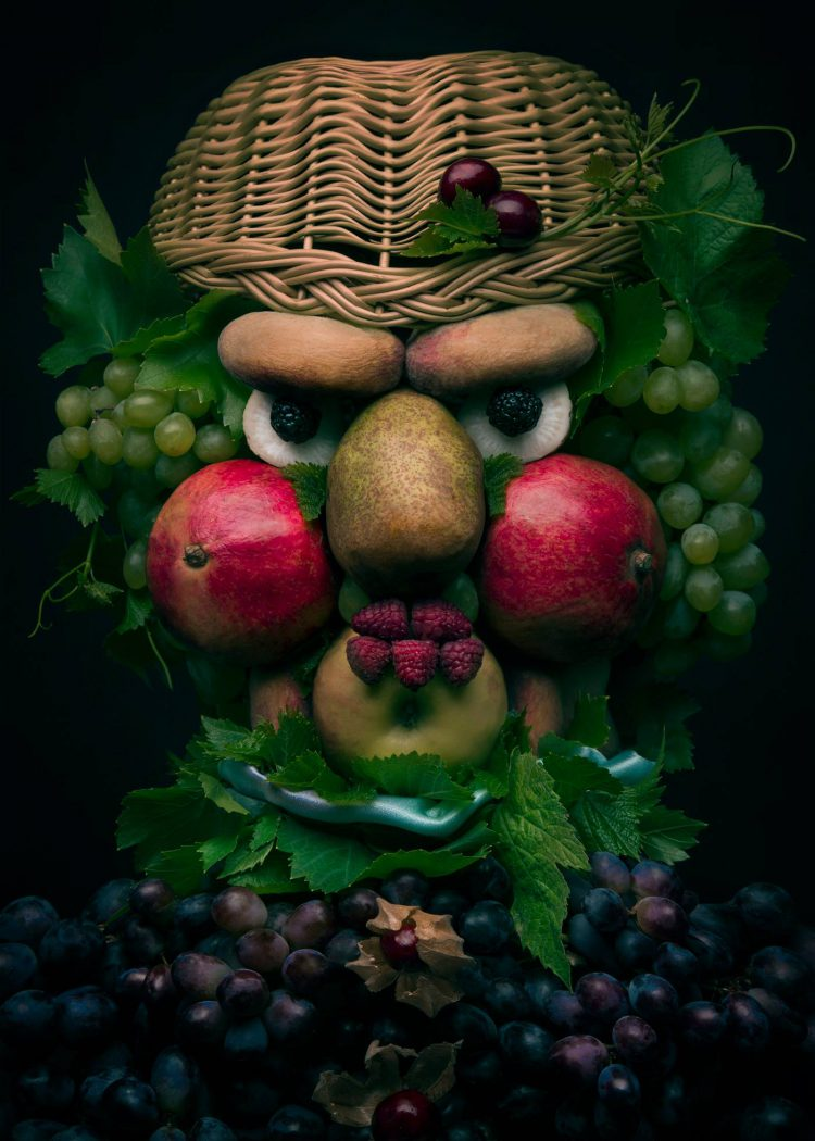 Polish Photographer Constructs Arcimboldo Inspired Faces From Colorful Produce of All Kinds