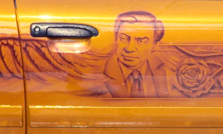 Artist Brandon Bird Reveals His Wonderful Jerry Orbach Memorial Art Car
