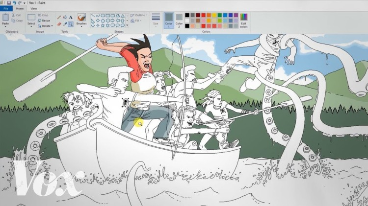 A Look at How Artist Pat Hines Makes Incredible Color Illustrations in Microsoft Paint