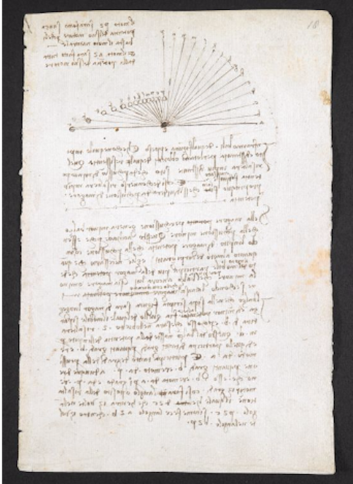 Codex Arundel Writing