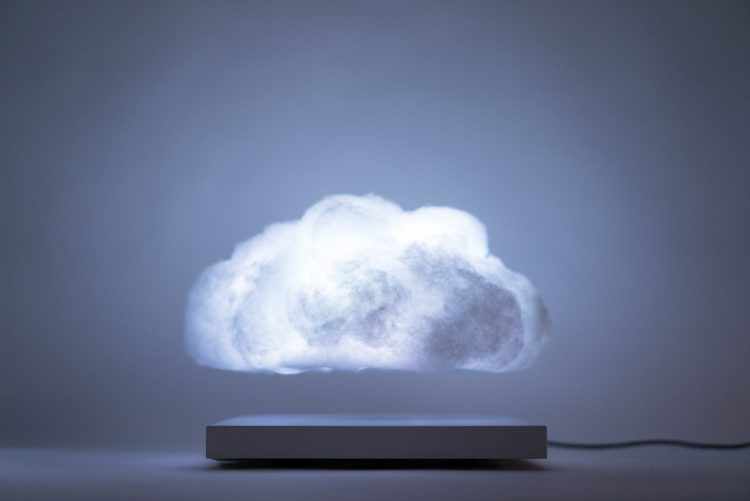 Floating Cloud, A Beautiful Sound Responsive Lamp That Levitates Above Its Base