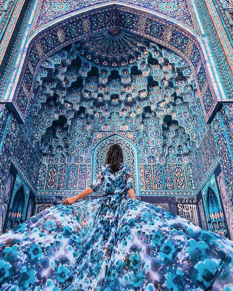 Gorgeous Flowing Dresses Showcased Against Gorgeous Backdrops From All Over the World