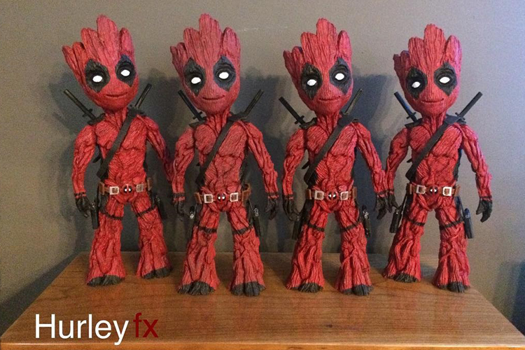 Grootpool, A 3D Printed Sculptural Mashup of Baby Groot and Deadpool