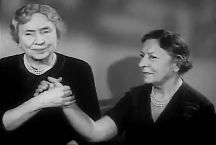 Helen Keller Verbally Expresses Her Regrets About Not Learning to Speak Clearly in a 1954 Interview