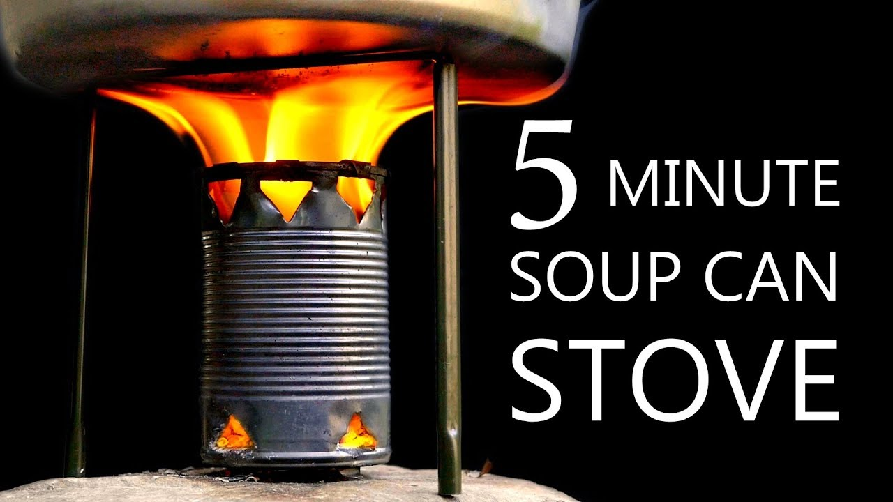 How to Build a Simple Camp Stove Using a Recycled Soup Can