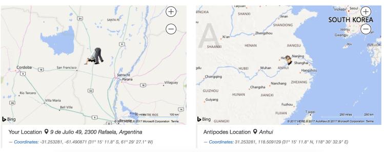 Junin (Argentina) — Lianyungang (China)