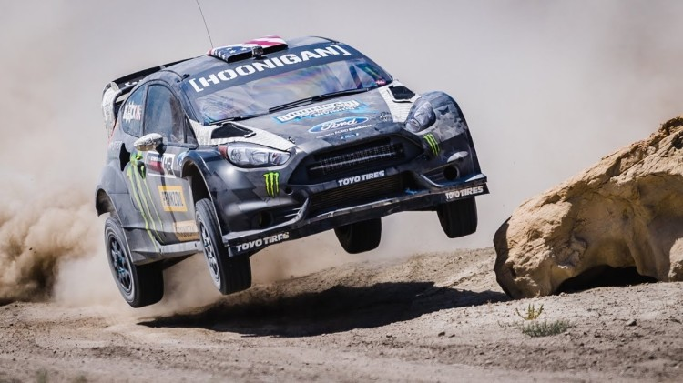 Ken Block Races His Ford Fiesta ST RX43 Through a Dirt Playground in Utah for Pennzoil's 'Terrakhana'