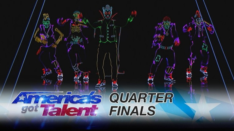 Light Balance Lights Up 'America's Got Talent' Stage With Spooky and Exciting Glowing Dance