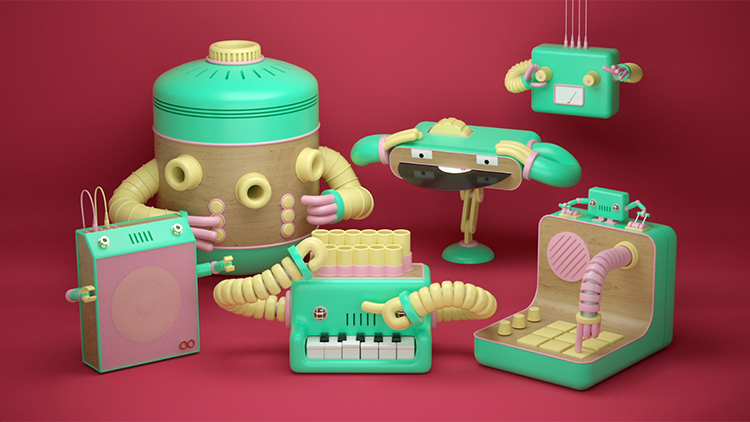 A Band of Talented Robots Perform a Catchy Song in the Delightful Animation 'Robot & The Robots'