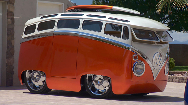 Marvelous Custom Cartoon-Like Volkswagen Microbus