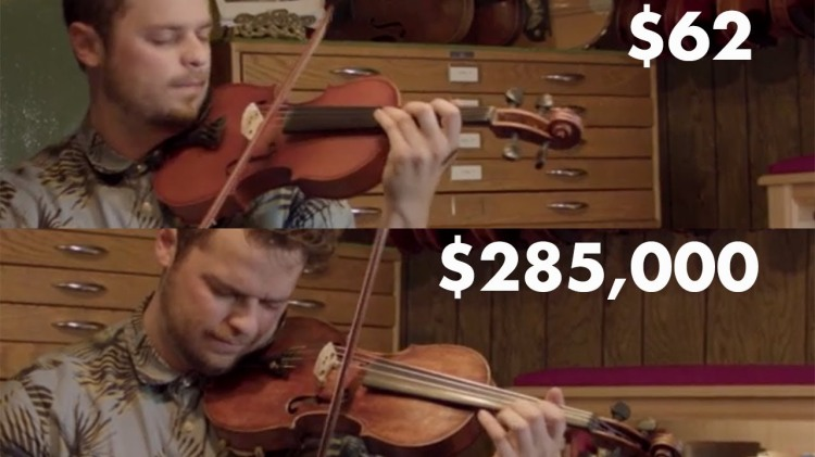 musician compares the sound of four violins at vastly different price points. Black Bedroom Furniture Sets. Home Design Ideas