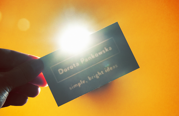 Blank Business Card That Is Only Visible When Looked at Through a Bright Light