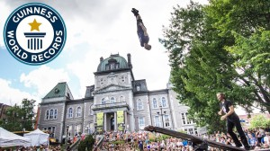 Circus Acrobats Set Guinness World Record for the Most Consecutive Back Flips on a Teeterboard