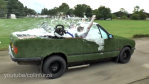 Colin Furze Turns a BMW Into a Drivable Hot Tub Car with a Grill On the Back