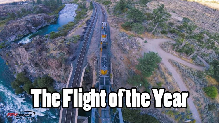 Dizzying Footage From a Drone Performing Amazing Looping Tricks Above Trains, Bridges and Mountains