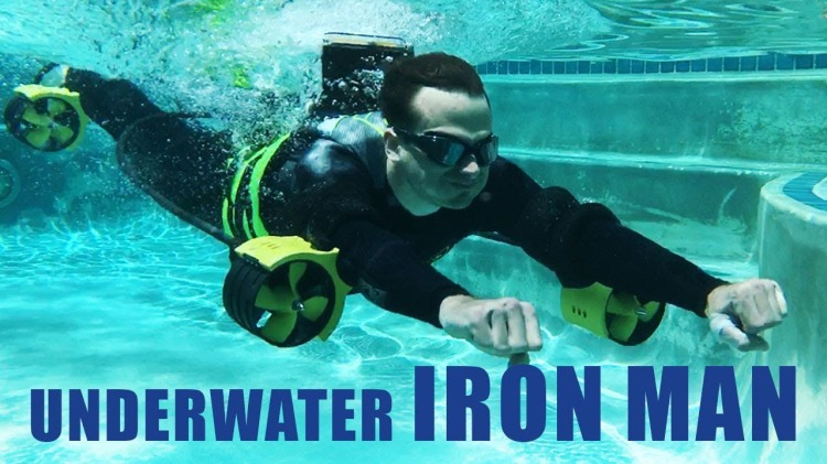 Engineers Build an Underwater Iron Man Jetpack That Lets You Swim Faster Than Michael Phelps