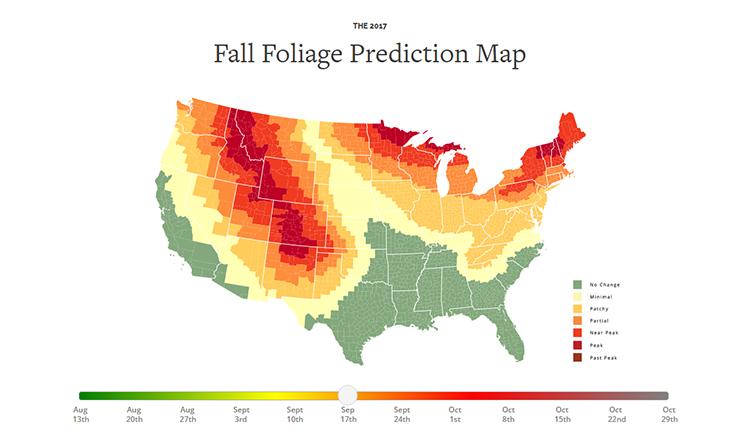 Fall Foliage Map 2017