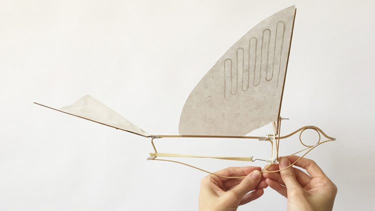 The Flying Martha Ornithopter, A Winged Mechanical Toy That Soars With the Power of a Rubber Band