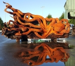Giant Pacific Octopus Reflected