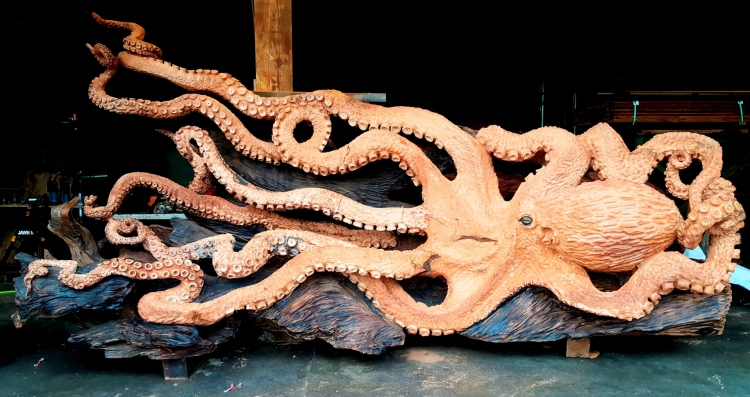 Giant Pacific Octopus Rough Finish