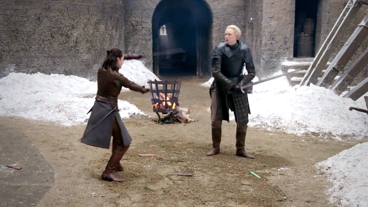 How Arya Stark and Brienne of Tarth's Epic Sparring Match Was Brought to Life On Game of Thrones
