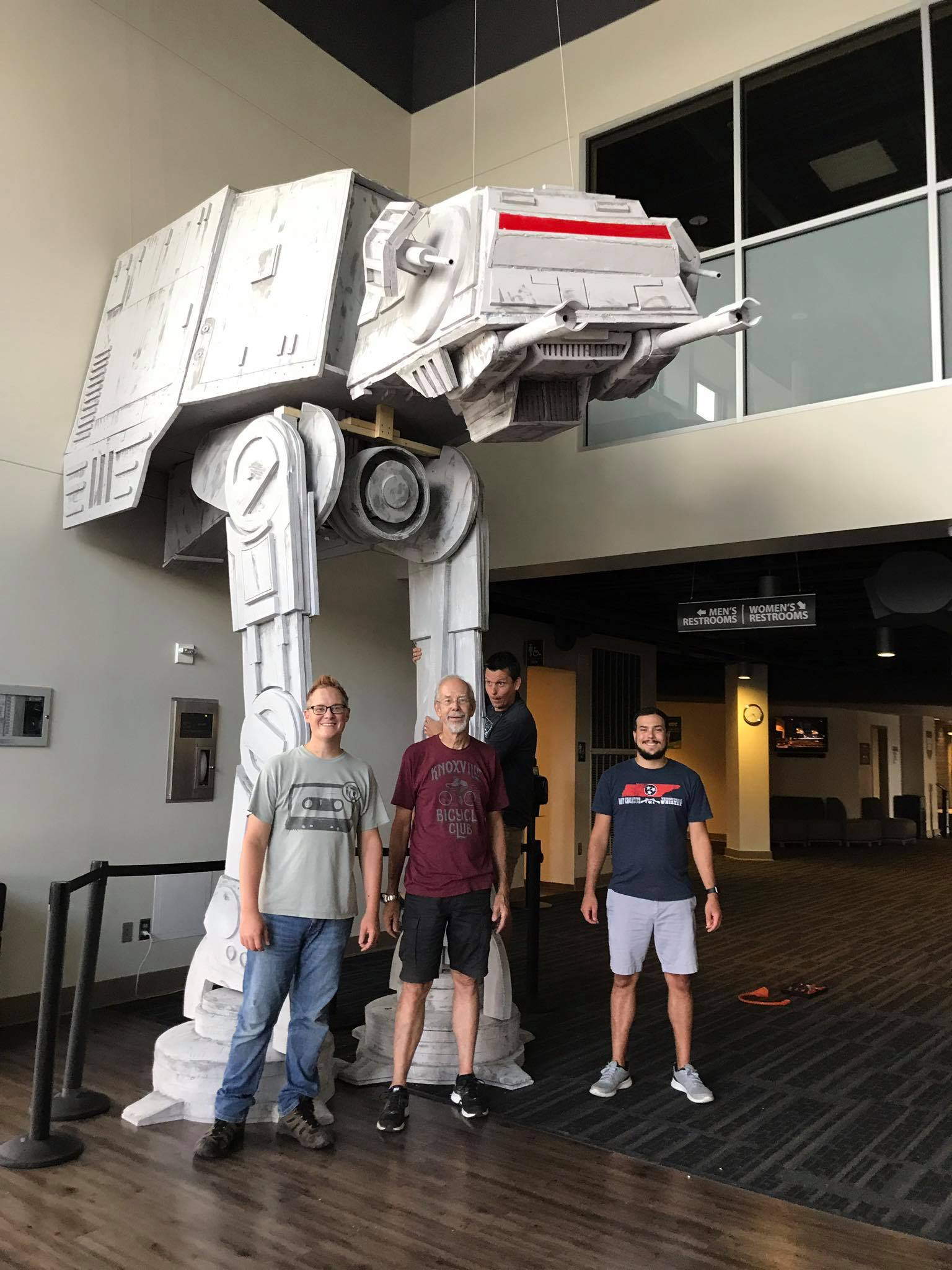 How to Build a Large Scale Star Wars AT-AT Walker From Foam Insulation Boards
