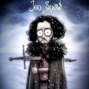 Jon Snow Tim Burton Game of Thrones