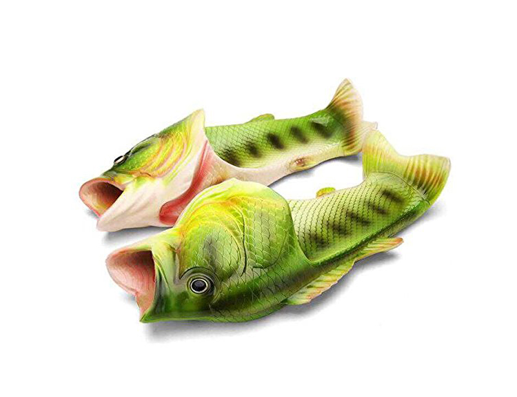 Largemouth Bass Fish Slippers