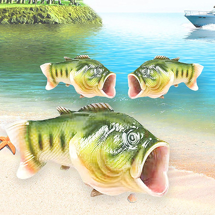 e675fce918b7f7 Largemouth Bass Fish Slippers
