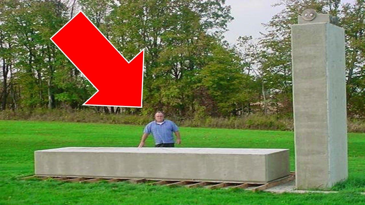 Michigan Man Lifts a 20 Ton Block by Hand Using Wood, Pebbles and Counterweights