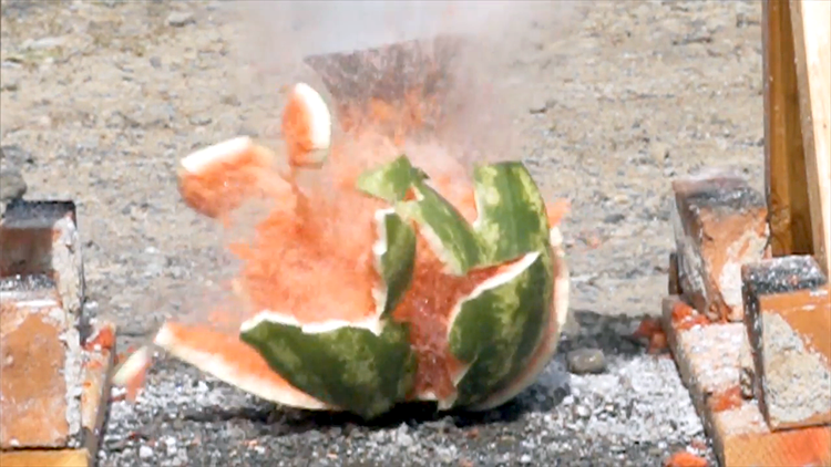 Pouring Molten Salt Into Melons