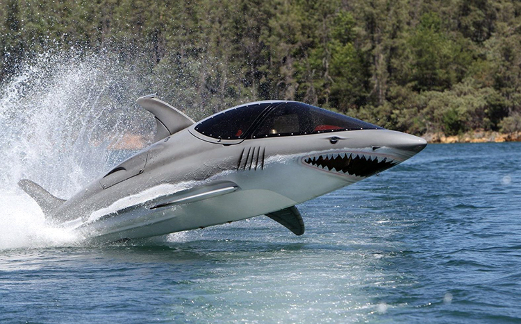 The Seabreacher, A Semi-Submersible Watercraft Available In the Shape of a Shark, Dolphin, or Whale