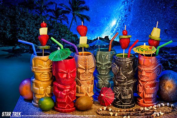 Star Trek The Next Generation Ceramic Tiki Mugs