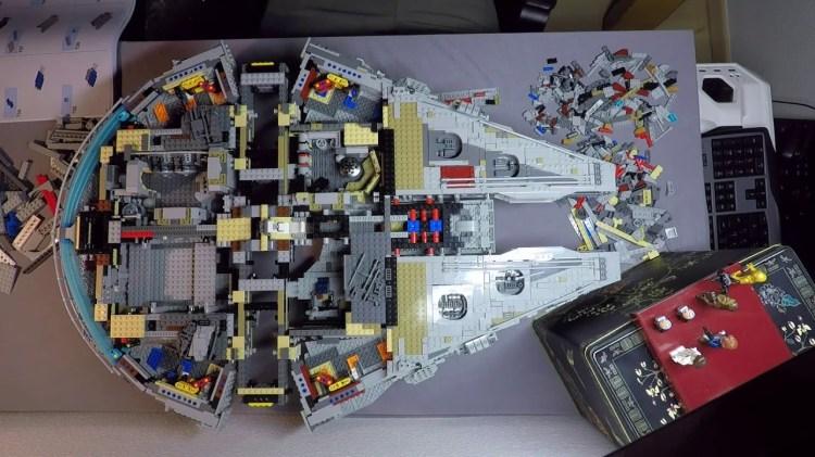 Timelapse of a Man Building the 7,541 Piece Millennium Falcon LEGO Set