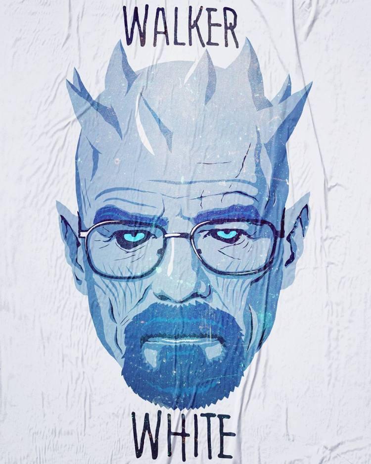 Walker White – Breaking Bad's Walter White as the Game of Thrones White Walker Ruler the Night King