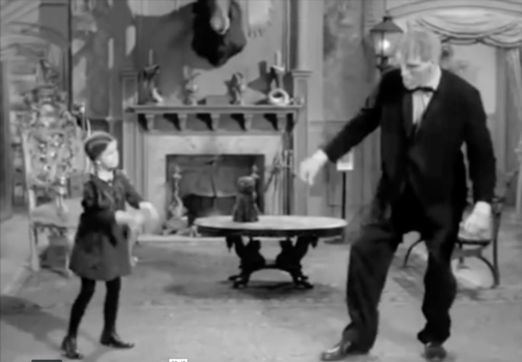 A Hilarious Mashup of The Addams Family Dancing To the Classic Ramones Song 'Blitzkrieg Bop'