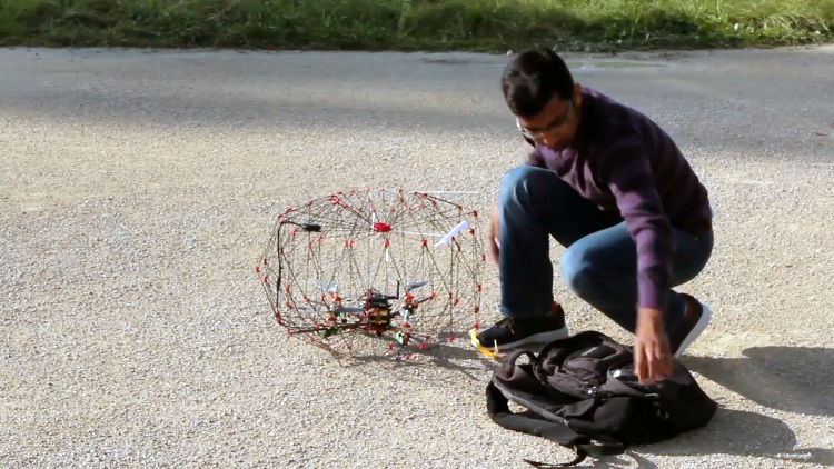 A Collapsible, Origami Inspired Delivery Drone
