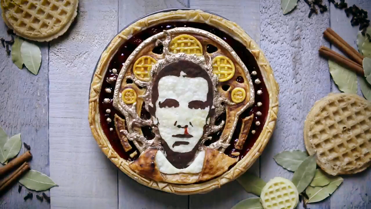 A Stranger Things Pie Design Featuring Eleven and Her Bloody Nose