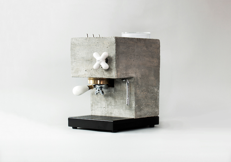 AnZa, A Unique Concrete Espresso Machine That Embraces the Raw Modular Style of Brutalism