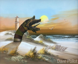 Artist Adds More Pop Culture Characters and Objects to Old Thrift Store Paintings