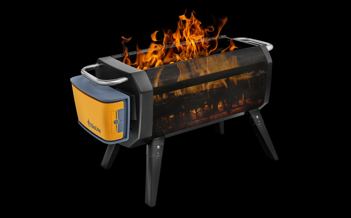 BioLite FirePit, A Portable Smokeless Wood Burning Device For Cooking Food  And Keeping Warm