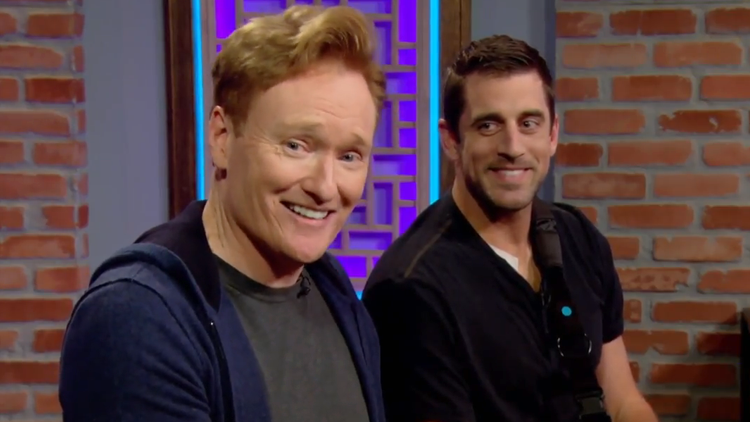 Conan O'Brien Plays 'Assassin's Creed Origins' With Quarterback Aaron Rodgers on Clueless Gamer