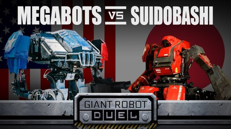 Giant Fighting Robots From USA and Japan Engage in an Epic Mechanical Battle