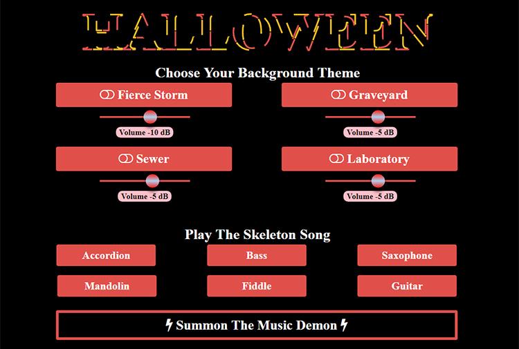 A Spooktacular Interactive Halloween Soundboard