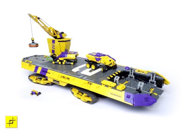 Khagaan, A Giant Motorized 25,000 Piece LEGO Planetary Exploration Landship