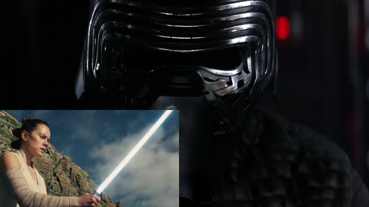 Kylo Ren Reacts to the New 'Star Wars: The Last Jedi' Trailer