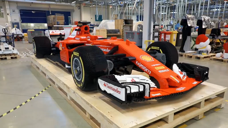 LEGO Builds a Life-Size Ferrari Formula One Racing Car Out of