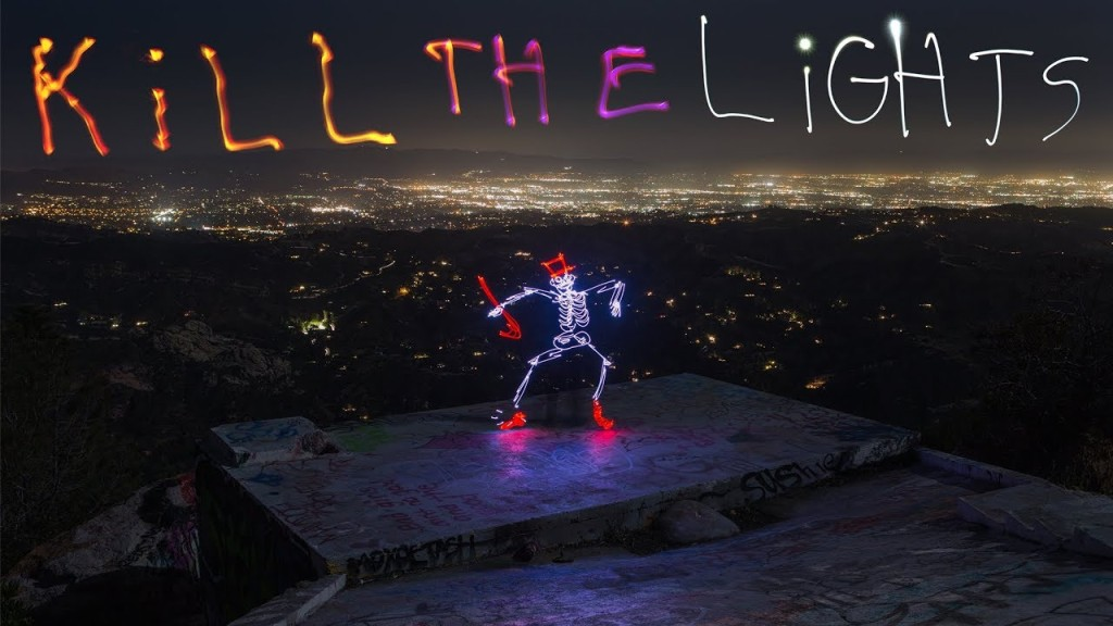 Light Painted Stop Motion Skeletons Play Music, Dance and Party Hard in a Brilliant Video Short