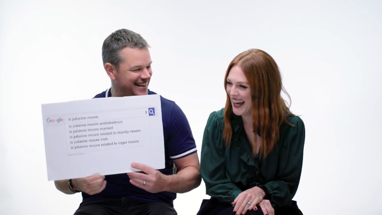 Matt Damon and Julianne Moore Answer the Web's Most Searched Questions About Themselves